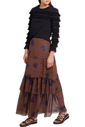 SEE BY CHLOÉ Printed silk maxi skirt