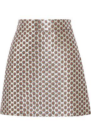 MIU MIU Floral-jacquard mini skirt