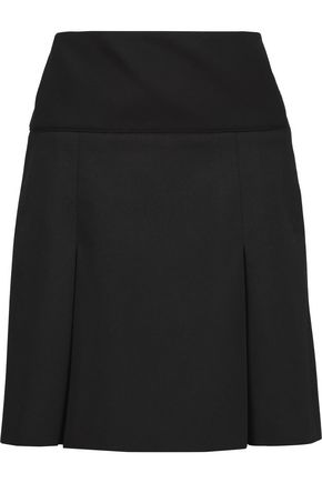 BELSTAFF Pleated stretch-jersey mini skirt