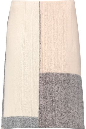 MARNI Paneled wool skirt