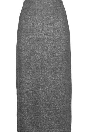 JIL SANDER Metallic wool-blend midi skirt