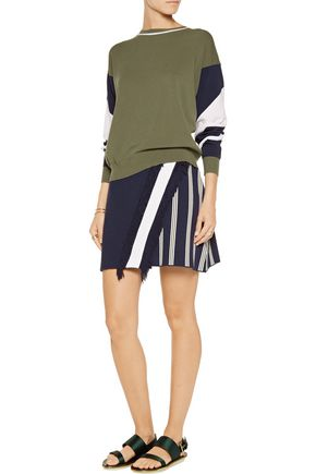 TANYA TAYLOR Andy striped jacquard-knit skirt