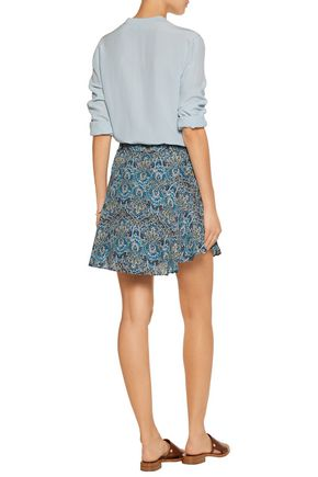 JOIE Earlene printed silk-chiffon mini skirt