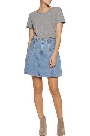 CURRENT/ELLIOTT The Skater denim mini skirt