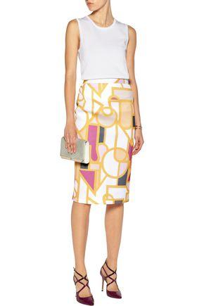 RAOUL Printed mesh skirt