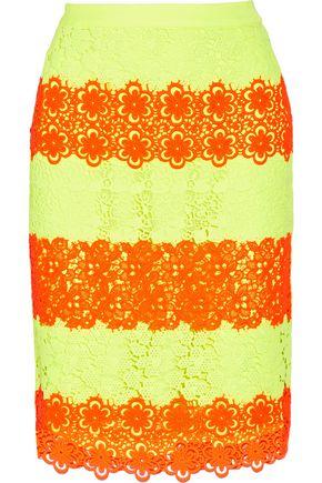 MOSCHINO Guipure lace skirt