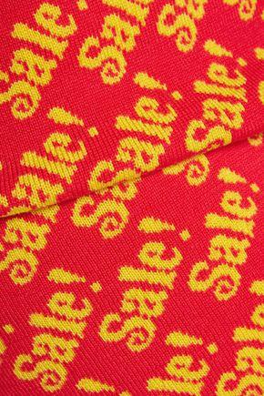 MOSCHINO Printed wool mini skirt