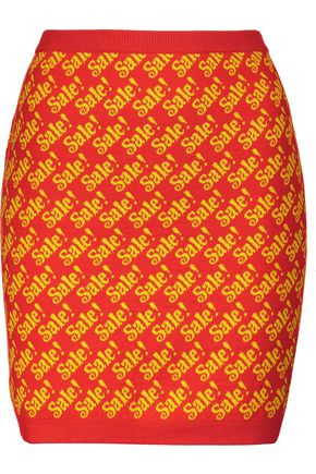 MOSCHINO Printed wool mini skirt