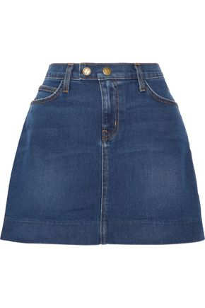 CURRENT/ELLIOTT The New A-Line denim mini skirt
