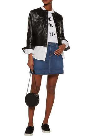 CURRENT/ELLIOTT The New A-Line denim mini skirt