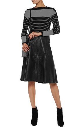 MUUBAA Flared leather skirt