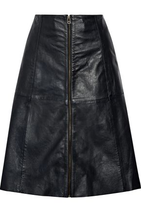 MUUBAA Flared leather skirt