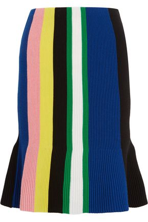 J.W.ANDERSON Striped ribbed merino wool skirt
