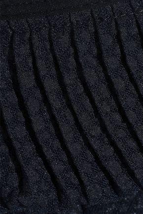 SEE BY CHLOÉ Pleated cloqué mini skirt