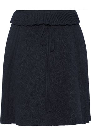 SEE BY CHLOÉ Pleated cloqué mini skirt