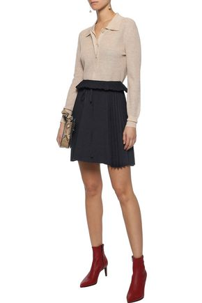d79983b0bc Pleated cloqué mini skirt | SEE BY CHLOÉ | Sale up to 70% off | THE ...