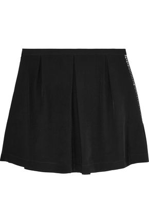 SEE BY CHLOÉ Sequined tulle-paneled silk mini skirt