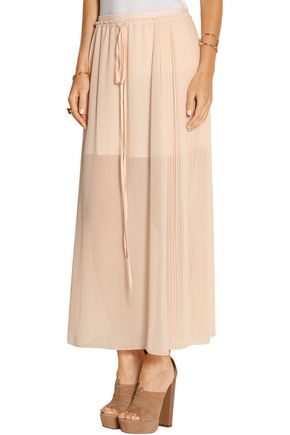 SEE BY CHLOÉ Pleated chiffon maxi skirt