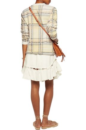 CHLOÉ Lace-up crepe mini skirt