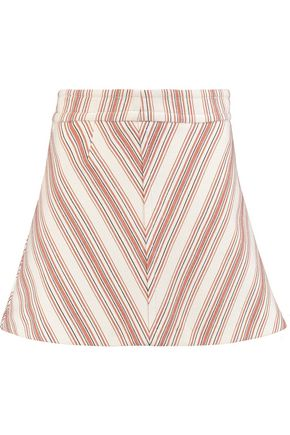 SEE BY CHLOÉ Printed cotton-blend canvas mini skirt