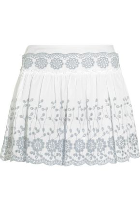 SEE BY CHLOÉ Broderie anglaise cotton mini skirt