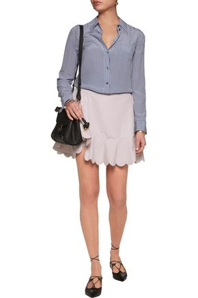 SEE BY CHLOÉ Scalloped cotton-poplin mini skirt