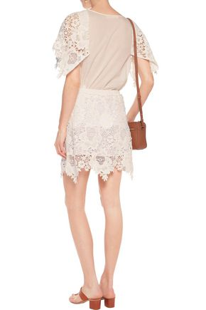 SEE BY CHLOÉ Guipure cotton-lace mini skirt