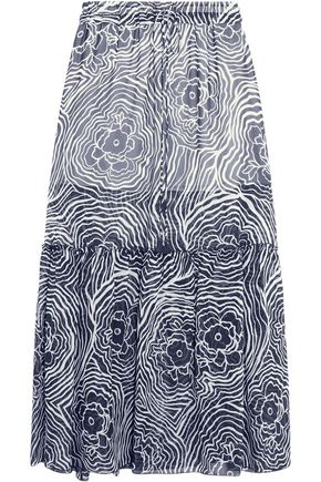 SEE BY CHLOÉ Printed silk-organza maxi skirt