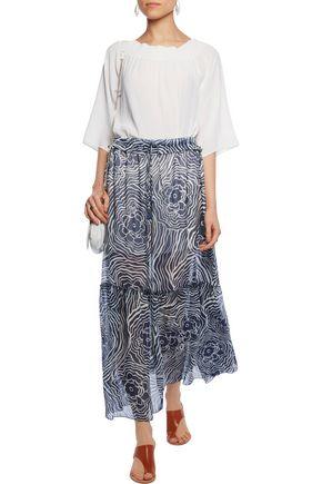 SEE BY CHLOÉ Printed silk-organza maxi skirt