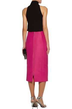 ANTONIO BERARDI Cotton and silk-blend satin midi skirt