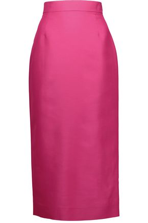 ANTONIO BERARDI Cotton and silk-blend satin midi skirt