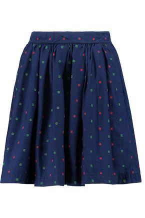 MAISON KITSUNÉ Cut Flowers Skater embroidered cotton mini skirt