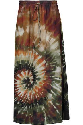 VALENTINO Printed silk-georgette maxi skirt