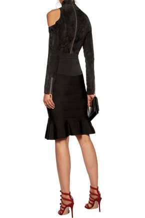 GIVENCHY Fluted faille skirt