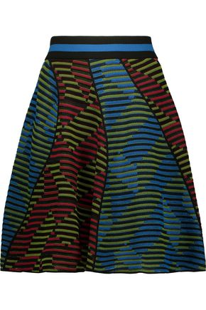 M MISSONI Crocheted wool-blend skirt