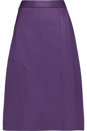 MSGM Pleated stretch-cady skirt