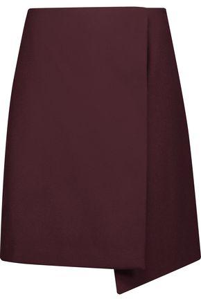 MSGM Asymmetric wool-blend mini skirt