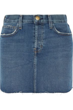 CURRENT/ELLIOTT Stretch-denim mini skirt