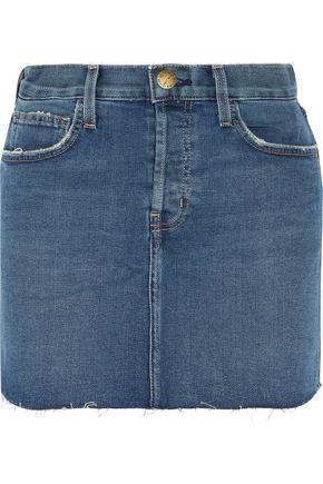 CURRENT/ELLIOTT Stretch-denim mini skirt