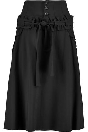 MARISSA WEBB Amber ruffle-trimmed woven midi skirt