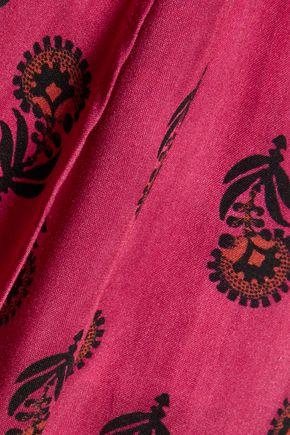 VIX Laos asymmetric printed voile wrap maxi skirt
