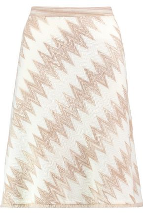 MISSONI Fringed wool-blend skirt