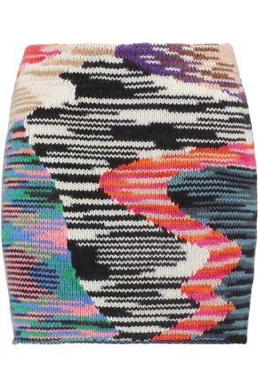 MISSONI Intarsia-knit wool-blend mini skirt