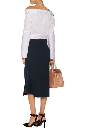 BRUNELLO CUCINELLI Wool-blend midi skirt