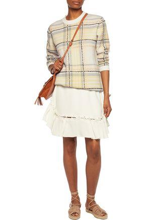 CHLOÉ Lace-up crepe mini skirt