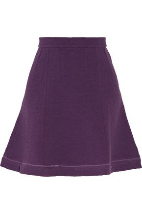 CARVEN Cotton-blend matelassé mini skirt