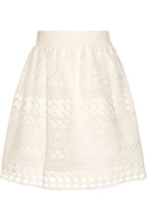 PHILOSOPHY di LORENZO SERAFINI Broderie anglaise cotton skirt