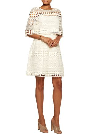 PHILOSOPHY di LORENZO SERAFINI Broderie anglaise cotton skirt