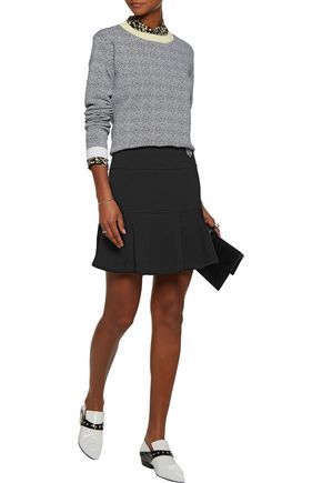 KENZO Fluted cotton mini skirt