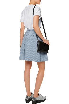 MARC BY MARC JACOBS Striped cotton and linen-blend skirt
